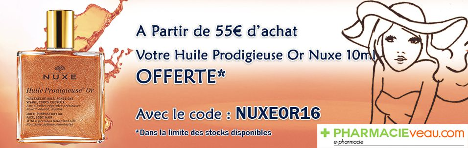 Huile Prodigieuse Nuxe OR OFFERTE pour 55€ d'Achats