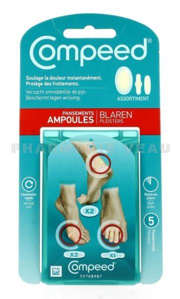 COMPEED Pansements Ampoules Assortiment
