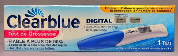 Clearblue digital vente en ligne france - Test de grossesse clearblue prix en pharmacie ...