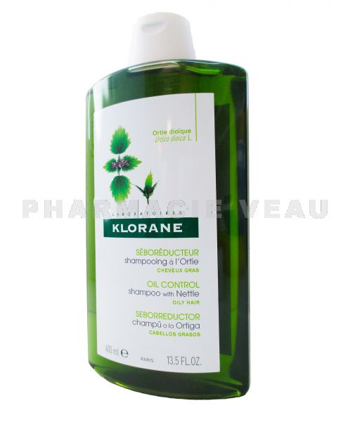KLORANE ORTIE Shampooing Cheveux Gras 400 ml