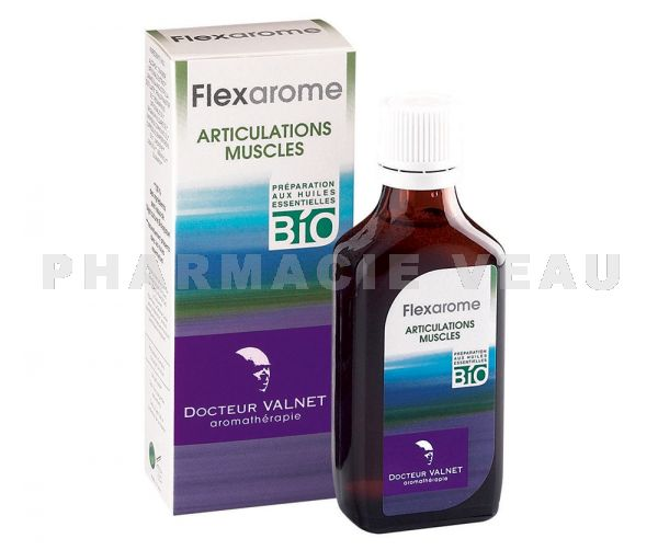 FLEXAROME huiles essentielles BIO Massage Articulations Muscles (100 ml) Valnet