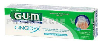 GUM GINGIDEX dentifrice tube de 75 ml référence 1755