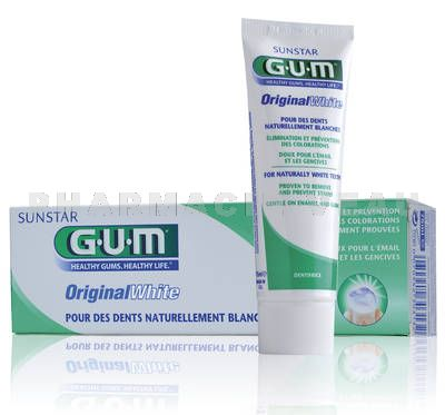 GUM ORIGINAL WHITE dentifrice tube de 75ml