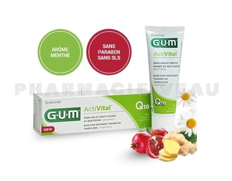 GUM ACTIVITAL Dentifrice Q10 Tube 75 ml