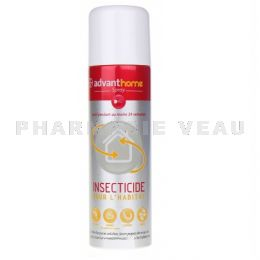 ADVANTHOME Spray Insecticide pour l'Habitat Anti Puces Spray 250 ml