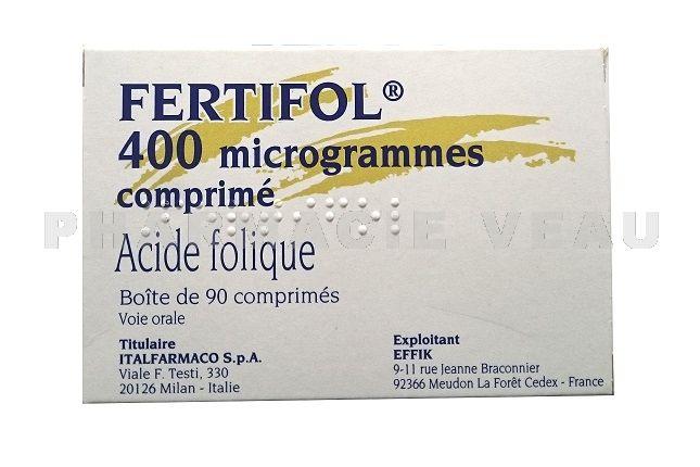 c3cc2f84b71 FERTIFOL 400 µg Boîte de 90 Comprimés