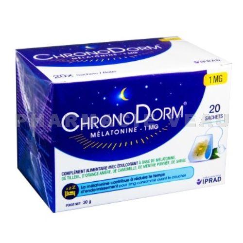 chronodorm tisane m latonine 1 mg 20 sachets. Black Bedroom Furniture Sets. Home Design Ideas
