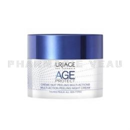 URIAGE AGE PROTECT Crème Nuit PEELING Anti Age Multi-Actions 50ml