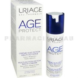 URIAGE AGE PROTECT Crème Nuit DETOX Anti Age Multi-Actions 40ml