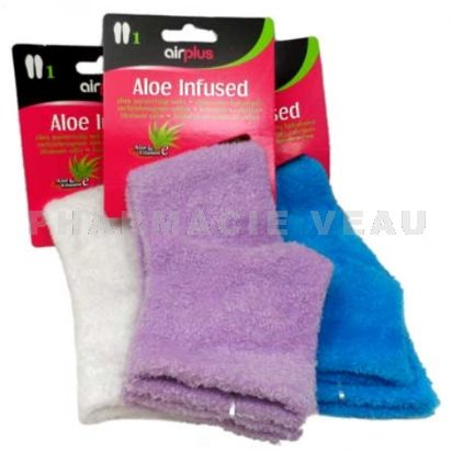 AIRPLUS Chaussettes Hydratantes Aloe Infused (1 paire) blanc/bleu/violet