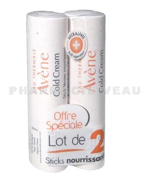 AVENE COLD CREAM Stick Lèvres Cold Cream (lot de 2 sticks)