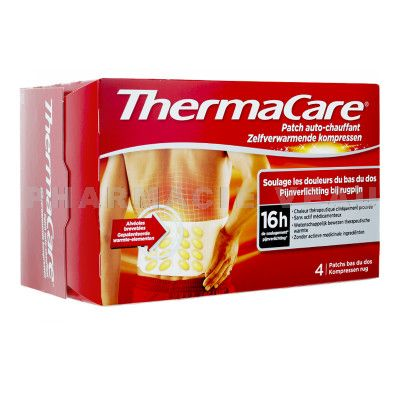 THERMACARE 16H Patch Auto-chauffant Bas du Dos (X4 patchs)
