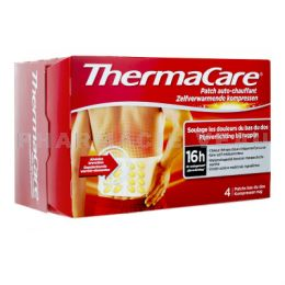 THERMACARE 16H Patch Auto-chauffant Bas du Dos X4 patchs
