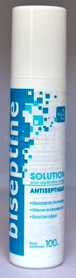 BISEPTINE Solution Flacon Spray 100 ml
