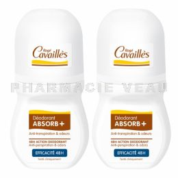 ROGE CAVAILLES ABSORB+ Déo 48h roll lot 2x50ml