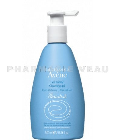 AVENE PEDIATRIL Gel Lavant Corps et Cheveux Flacon Pompe de  500 ml