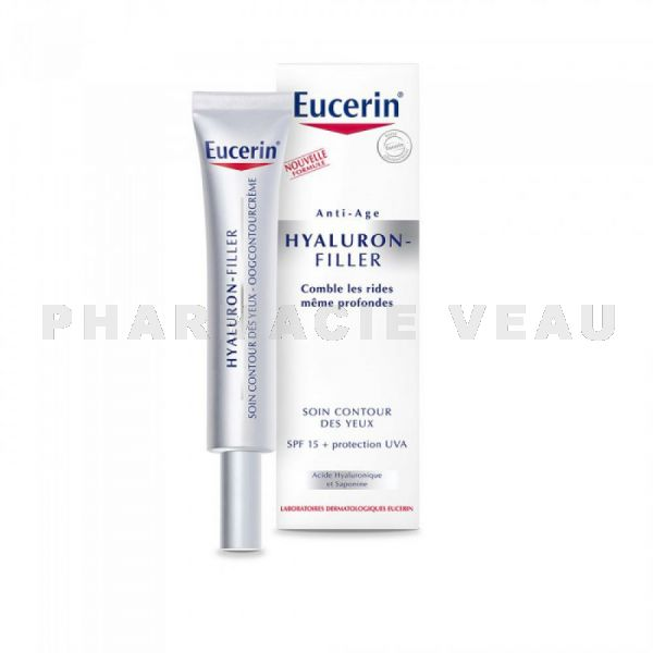 EUCERIN Hyaluron Filler Soin Anti-Age Contour des Yeux SPF15 (15ml)