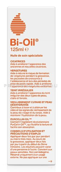 BI OIL Huile de soin Vergetures, Cicatrices (flacon 125 ml)