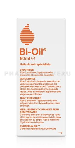 BI OIL Huile de soin Anti-vergetures, Anti-cicatrices (flacon 60 ml)