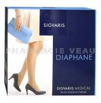 SIGVARIS DIAPHANE NEW Bas de Contention Auto-Fixants Classe 2 (couleur Dune)