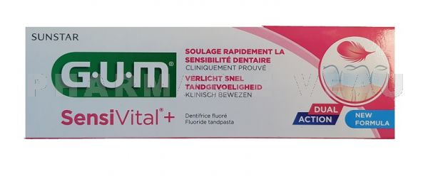 GUM SENSIVITAL Gel dentifrice Dents sensibles (75ml)