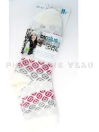 AIRPLUS Chaussettes Hydratantes Diamond Blanc Taille 35-41