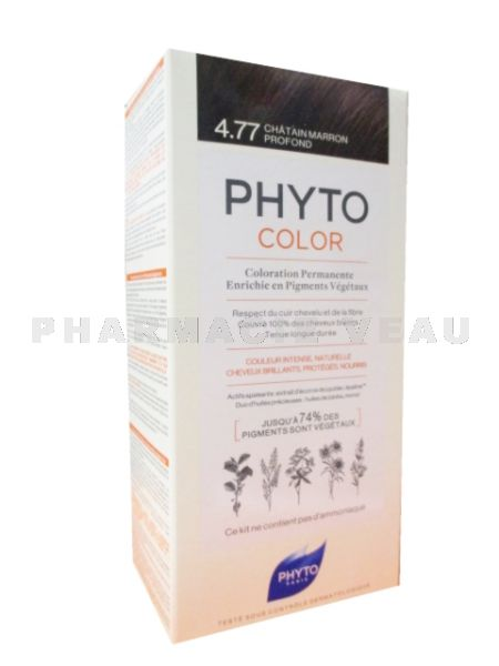 PHYTOCOLOR 4.77 Coloration Permanente CHATAIN MARRON PROFOND