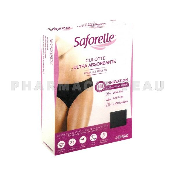 SAFORELLE Culotte Ultra Absorbante - Protection Règles (Taille S)
