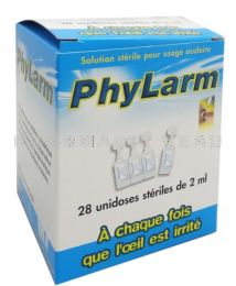 Phylarm 0,9 % Solution oculaire irrigation 28 unidoses
