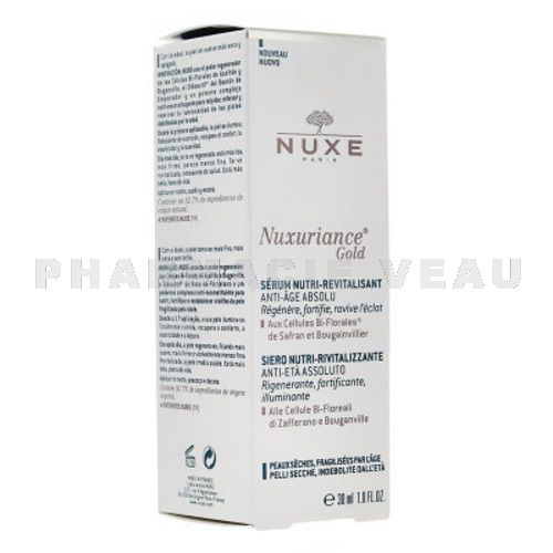 NUXE NUXURIANCE GOLD Sérum Nutri Revitalisant Anti Age (30ml)