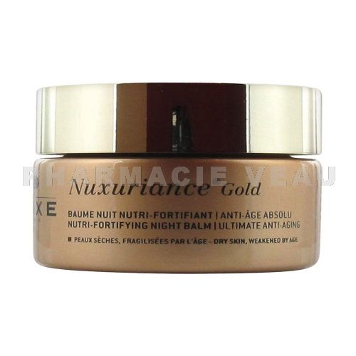 NUXE NUXURIANCE GOLD Crème Baume Visage Nuit Fortifiant (50ml)