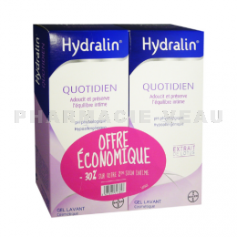HYDRALIN Quotidien Gel Lavant intime Lot 2 x 400ml PROMO