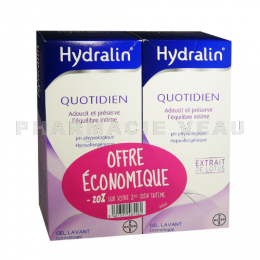 HYDRALIN Quotidien Gel Lavant intime Lot 2 x 200 ml PROMO
