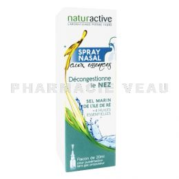 NATURACTIVE Spray nasal décongestionnant huiles essentielles 20ml