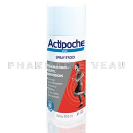 ACTIPOCHE Bombe de froid spray froid 400 ml