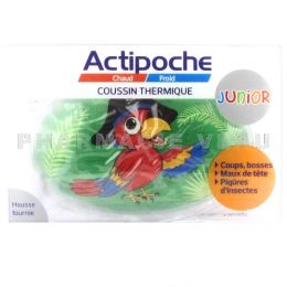 ACTIPOCHE Coussin Poche thermique Chaud Froid JUNIOR PERROQUET 8x12cm
