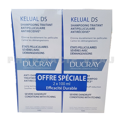 DUCRAY Kelual DS Shampooing Anti pelliculaire (lot de 2x100 ml) PROMO