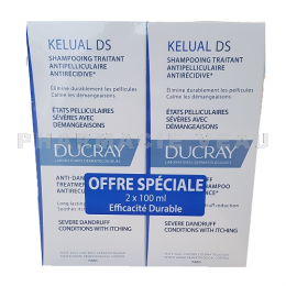 DUCRAY Kelual DS Shampooing Anti pelliculaire lot de 2x100 ml PROMO