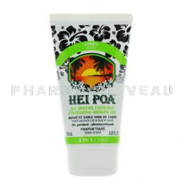 HEI POA MONOI Gel Douche Exfoliant au Sable Noir 150 ml