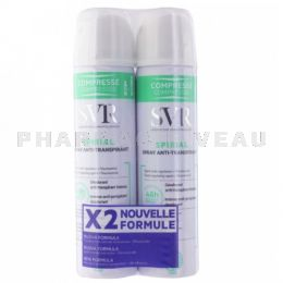 SVR SPIRIAL Déodorant Spray Anti-Transpirant Lot 2x75ml