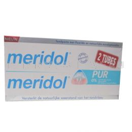 MERIDOL PUR Dentifrice Lot 2 x 75 ml