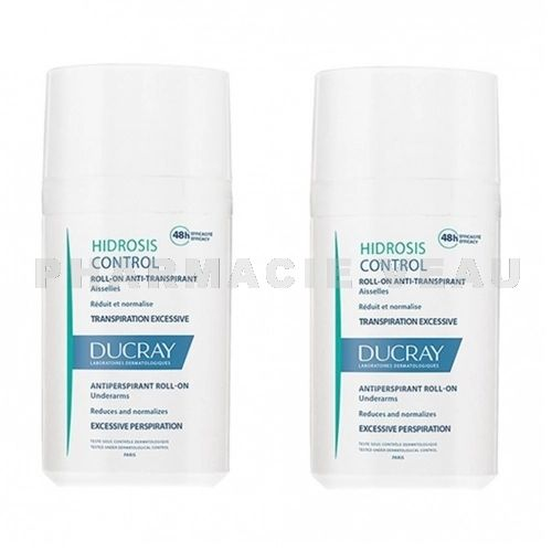 DUCRAY HIDROSIS Déodorant anti transpiration excessive (lot 2 roll on x 40ml) PROMO