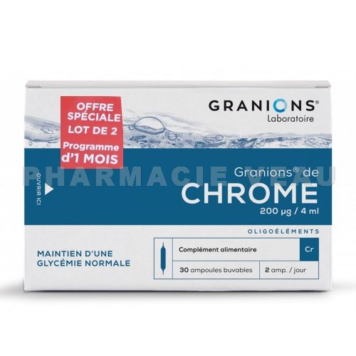 GRANIONS de CHROME (LOT 2 x 30 ampoules)