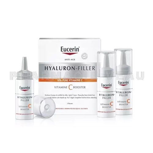 EUCERIN Hyaluron-Filler Vitamine C Booster Anti Rides (3x8ml)