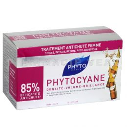 PHYTO PARIS Phytocyane Antichute Chute cheveux FEMME 12 fioles