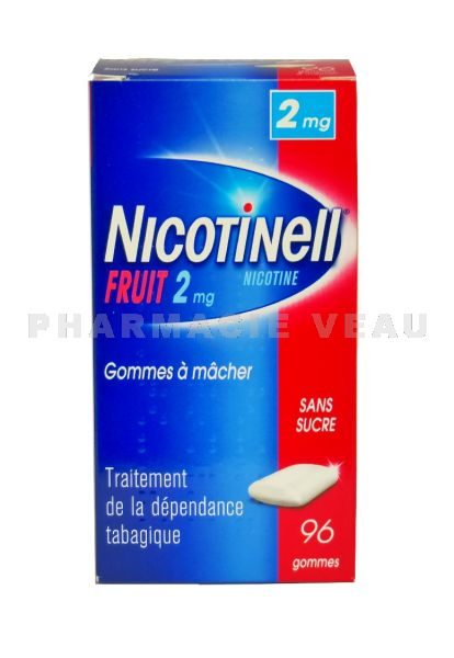 NICOTINELL 2 mg FRUIT boite de 96 gommes