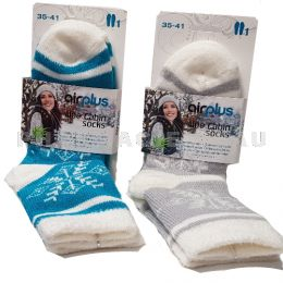 AIRPLUS Chaussettes Hydratantes Flocons Gris ou Turquoise Taille 35-41