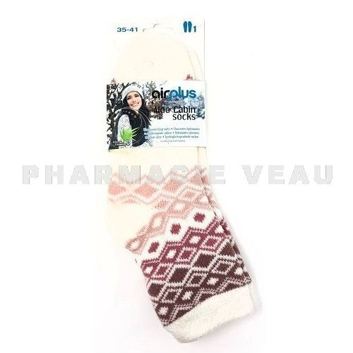 AIRPLUS Chaussettes Hydratantes Diamants Rose Femme (Taille 35-41)