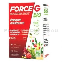 NUTRISANTE FORCE G Booster Shot ENERGIE BIO 20 ampoules