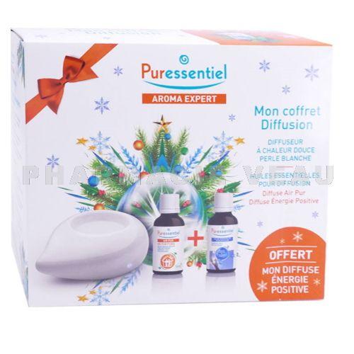 puressentiel coffret cadeau diffuseur perle blanche 2 huiles essentielles 10ml pharmacie veau